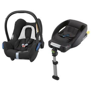 Maxi-Cosi CabrioFix Black Grid & EasyFix Paket Babyskydd inkl. IsoFix-bas
