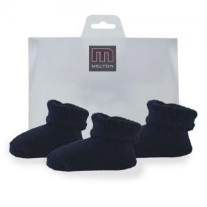 Melton Babysocka Terry 3-pack Dark Marine - One Size