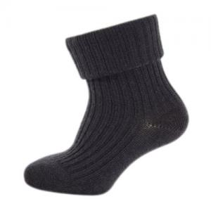 Melton Wool Socks Dark Grey Melange