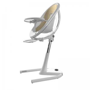 Mima Moon High Chair White / Chrystal incl. footrest