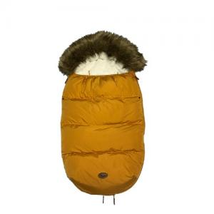 Mini Dreams Footmuff With Fur Yellow
