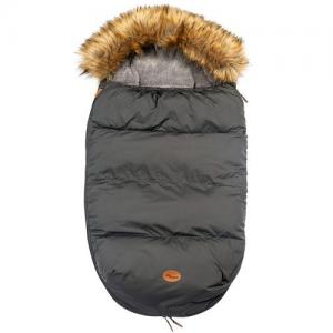 Mini Dreams Footmuff With Fur Dark Grey