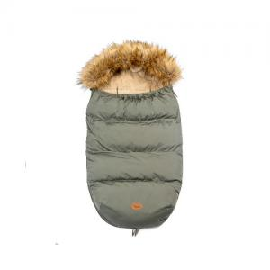 Mini Dreams Footmuff With Fur Olive