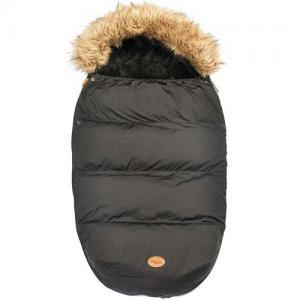 Mini Dreams Footmuff With Fur Black