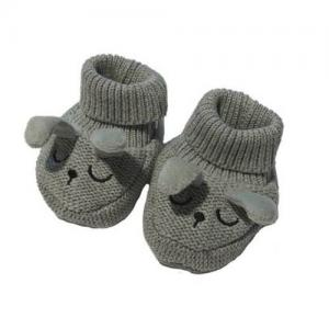 Mini Dreams Baby Slippers One Size Grey