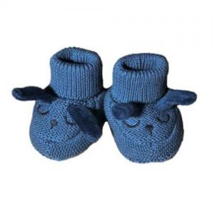 Mini Dreams Baby Slippers One Size Navy