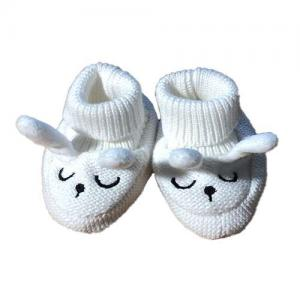 Mini Dreams Baby Slippers One Size White