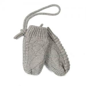 Mini Dreams Baby Mittens Lined Grey 0-12 Months