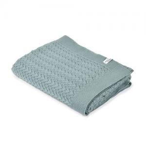 Mini Dreams Filt Lace Blanket Dusty Green