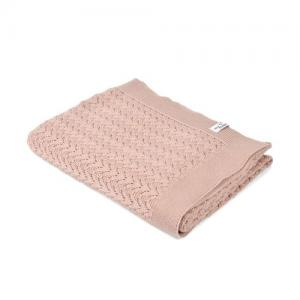 Mini Dreams Filt Lace Blanket Dusty Pink