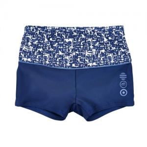Minymo Swim Trunks Navy with White Pattern