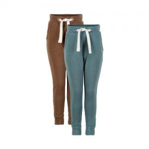Minymo Soft Pants Sweatpants Green Blue / Brown 2 - Pack