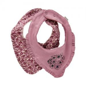 Minymo Scarf Haklapp Ekologisk Bomull Rosa 2-pack