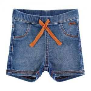 Minymo Shorts Denim med Orange Dragsnöre