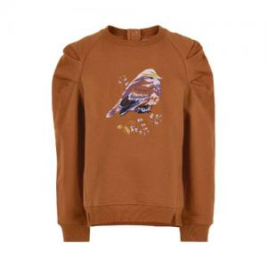 Minymo Shirt Long Sleeves Embroided Bird Glazed Ginger