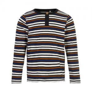 Minymo Shirt Long Sleeved Striped Jet Black