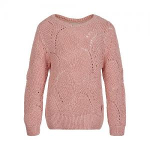 Minymo Sweatshirt Pullover Striped Knit Pink