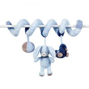 Nattou Activity Toy Spiral for cot bed Blue Alex & Bibou Collection