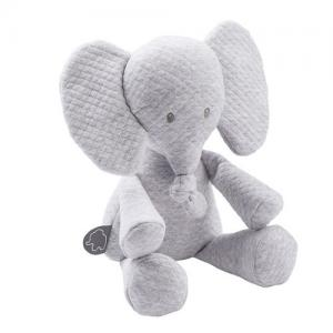 Nattou Tembo Stuffed Animal Elephant Quilted Gray
