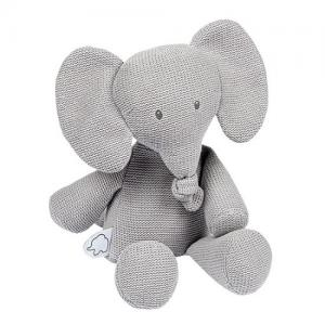Nattou Tembo Stuffed Animal Elephant Knitted Gray
