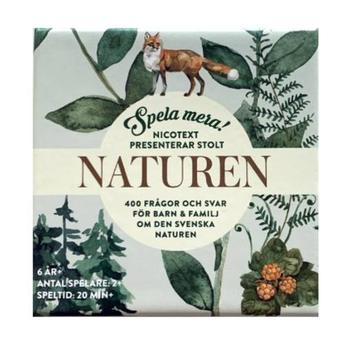 Nicotext Spela Mera Naturen 6+ år