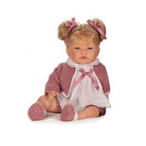 Nines D'Onil Doll Celia Lana Blonde Pigtails - comes with pacifier