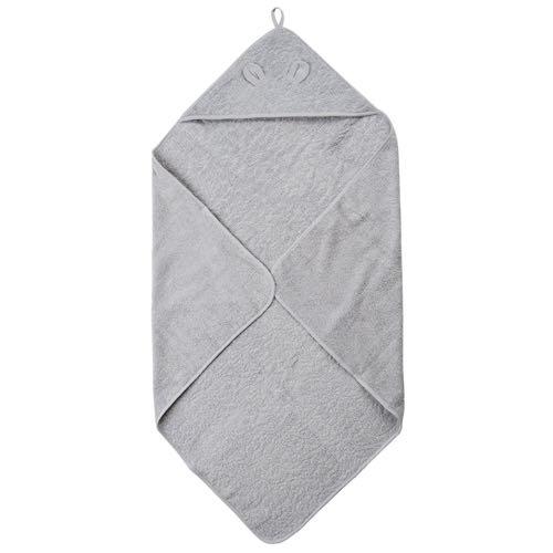 Pippi Badcape Ljusgrå Handduk med huva 83X83 cm