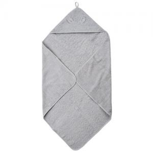 Pippi Bath Cape Light Grey Towel With Cap 83x83cm