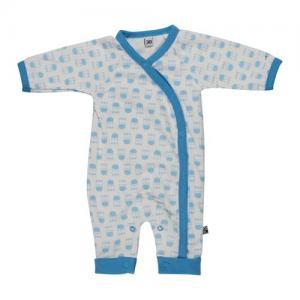 Pippi Prematur Ekologisk Body Suit Zebra Blå 44