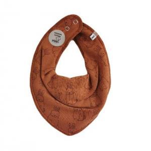 Pippi Scarf / Fabric Bib - 372 Rust