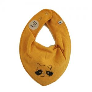 Pippi Scarf / Fabric Bib - 372 Yellow Racoon