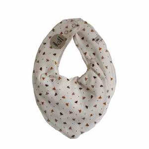 Pippi Scarf / Fabric Bib - 452 White with flowers