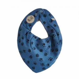 Pippi Scarf / Fabric Bib - 721 Blue with Paws