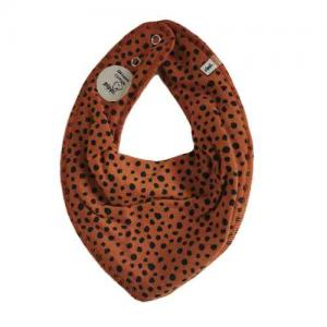 Pippi Scarf / Fabric Bi - 762 Brown with black dots