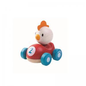 Plan Toys Kyckling i Bil Ekologisk