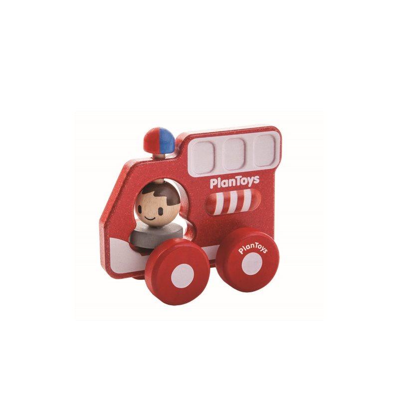 Plan Toys Brandbil Röd - Ekologisk