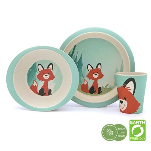 Pure Kids Bamboo Kids Servis 3 pieces Bamboo, Fox