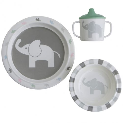 Rätt Start Elephant Children Dinner Set in three parts