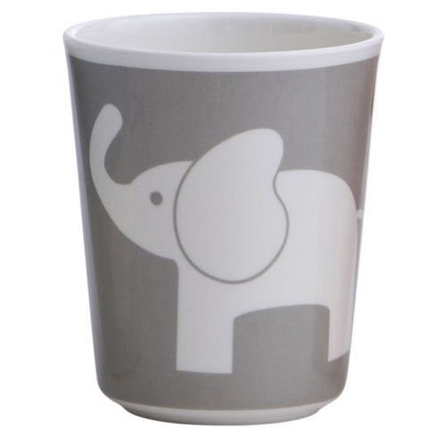 Rätt Start Melamine Glass Elephant Dark Grey