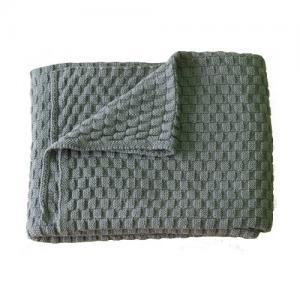 Right Start Tax Blanket Organic Cotton Grey Blue