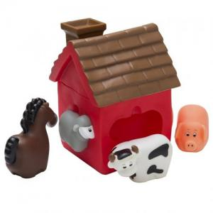 Rätt Start Bath Toy House With Animals 1-Pack Red