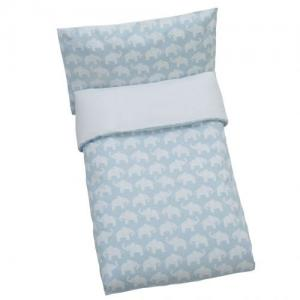 Rätt Start Duvet Set For Crib Elephant Blue