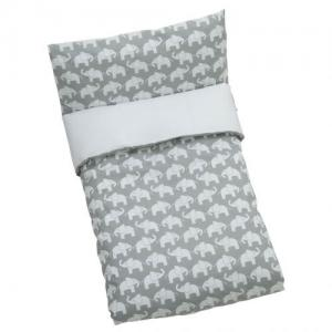 Rätt Start Duvet Set For Crib Elephant Grey