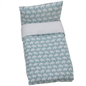 Rätt Start Duvet Set For Crib Menthol Blue ECO