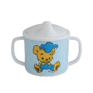 Rätt Start Sippy Cup with spill-proof lid Bamse White / Blue