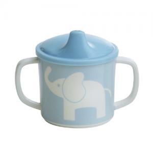 Rätt Start Pipmugg med Spillsäkert Lock Elefant Blå
