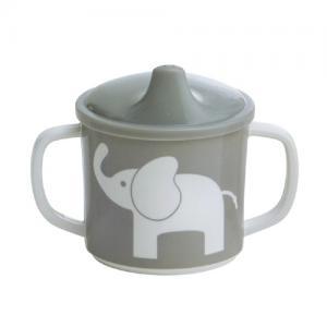 Rätt Start Pipmugg med Spillsäkert Lock Elefant Grå