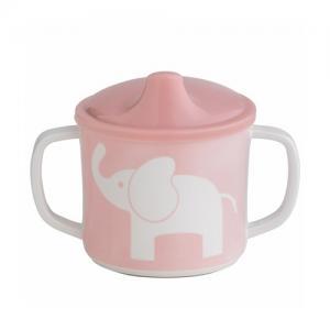 Rätt Start Pipmugg med Spillsäkert Lock Elefant Rosa