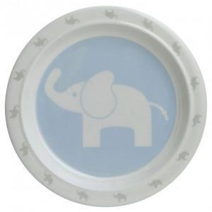 Rätt Start Flat Tallrik Elefant Blå