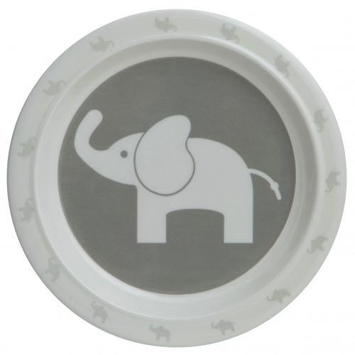Rätt Start Flat Tallrik Elefant Grey